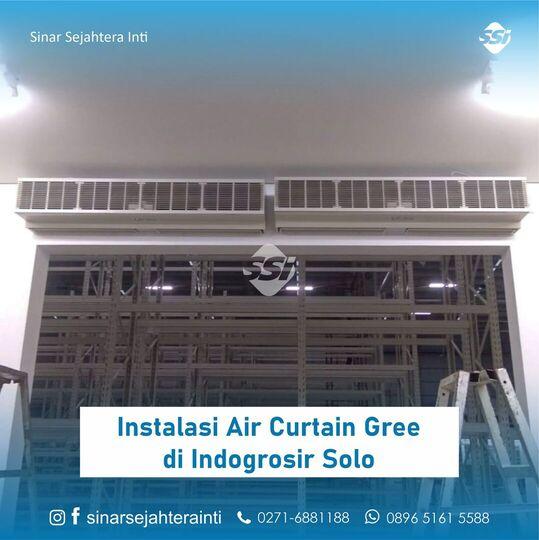 Instalasi Air Curtain Gree di Indogrosir Solo